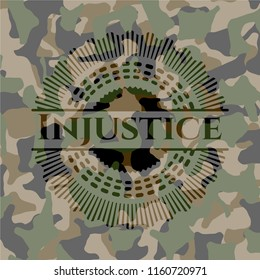 Injustice on camo pattern