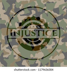 Injustice on camouflaged texture