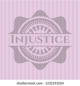 Injustice retro pink emblem