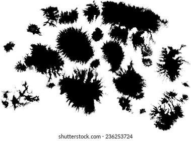 ink blob as element of design