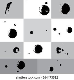 Ink blot Vector Art, Stock Vector