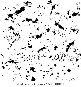 Ink blots Grunge urban background.Texture Vector. Dust overlay distress grain . .Black paint splatter , dirty,poster for your design. Hand drawing illustration