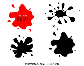 The ink blots.Spot vector illustration.