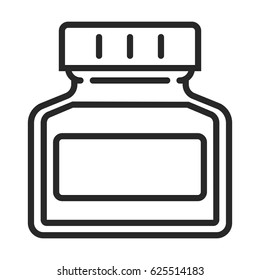 ink bottle vector icon in simple outline style. This icon are perfect for your websites and applications.