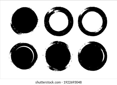 Ink brush stroke collection Vector