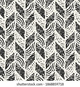 Ink Drawn Ethnic Ornate Herringbone Seamless Pattern
