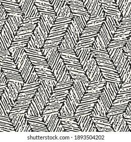 Ink Drawn Mottled Zigzag Stroke Seamless Pattern