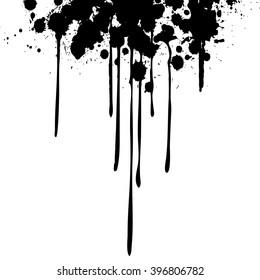 Ink Drips  - vector illustration
