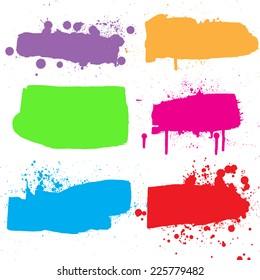 Ink grunge banners. Vector illustration.