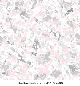Ink marble seamless pattern. Pink and grey ink abstract vector background.