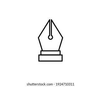 Ink Pen icon vector EPS 10, abstract signs flat design, illustration modern isolated badge for website or app - stock info graphics