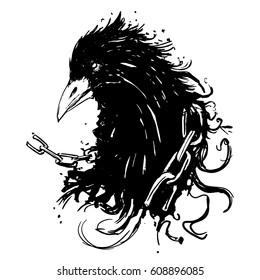 Ink rave , grunge crow.