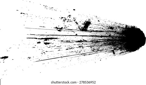 Ink Splash Background . Black Paint Splattered Shape .