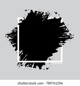 Ink splat poster with grunge effect. Vector distressed banner for your design.