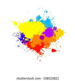ink spots. Vector