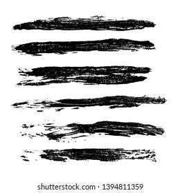 Ink vector brush strokes background. Vector illustration. Grunge texture.