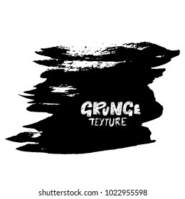 Ink vector dry brush stroke. Vector illustration. Grunge hand drawn watercolor texture. Space for text.