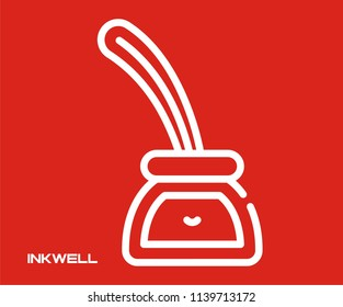 INKWELL VECTOR ICON