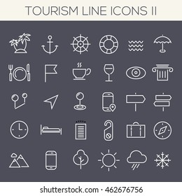 Inline Tourism Icons Collection
