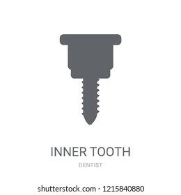 Inner Tooth icon. Trendy Inner Tooth logo concept on white background from Dentist collection. Suitable for use on web apps, mobile apps and print media.