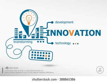 Innovation concept for business. Innovation concepts for web banner and printed materials.