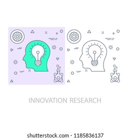 innovation research Modern flat color line vector icon