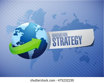 Innovation Strategy globe sign concept illustration design graphic