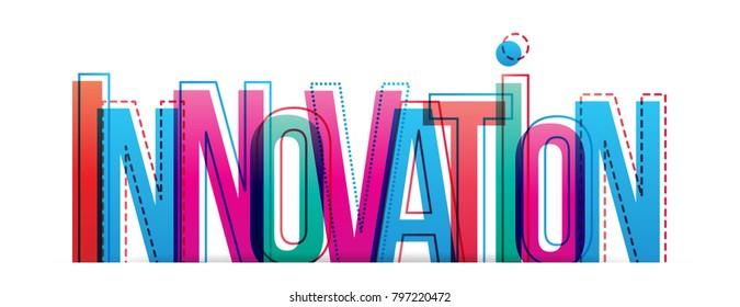Innovation word creative design concept