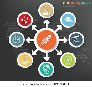 Innovation,science concept info graphics design,clean vector