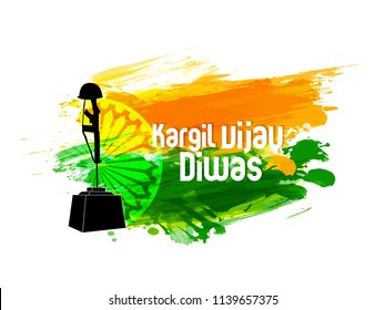 innovative abstract, banner or poster for Kargil Vijay Diwas with creative design illustration