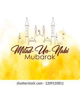 Innovative abstract, banner or poster for Milad Un Nabi Mubarak with nice and creative design illustration.
