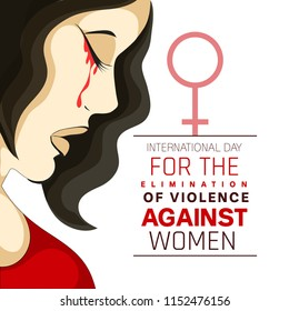 Innovative abstract for Elimination of Violence Against Women  and creative design illustration for poster with text