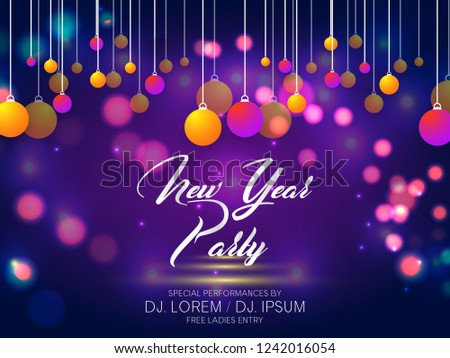 innovative abstract flyer or invitation for new year party flyers with nice and creative design
