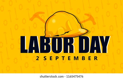 Innovative abstract illustration or poster, banner for Happy Labor Day, sale offer Design template.