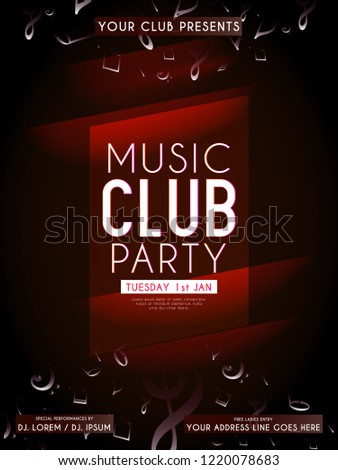 innovative abstract invitations flyers music club stock vector