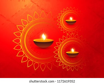 innovative abstract or poster for Diwali or Deepawali with nice and creative Deep or Rangoli design illustration, Diwali Greetings, Modern Diwali Greetings.