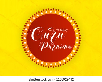 Innovative abstract or poster for Guru Purnima with nice and creative design illustration.