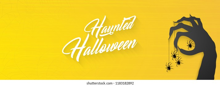 Innovative abstract or poster for Haunted Halloween or Trick or Treat with nice and creative design illustration.