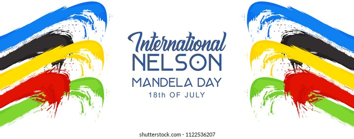 Innovative abstract or poster for International Nelson Mandela Day, 18th of July, with nice and creative design illustration.