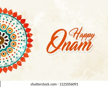 Innovative abstract or poster for Onam with nice and creative design illustration.