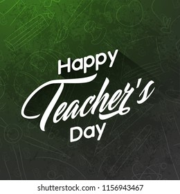 innovative abstract or poster for Teacher's Day, 5th of September, with nice and creative design illustration.