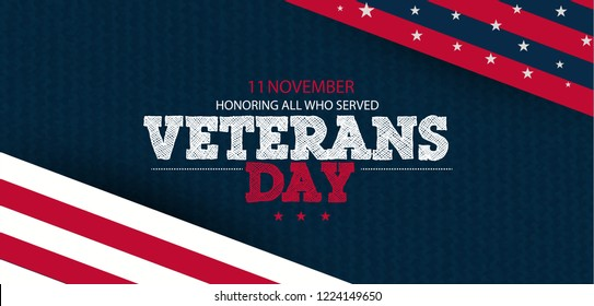 innovative abstract or poster for Veterans day. Honoring all who served. November 11