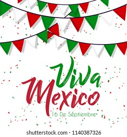 Innovative abstract or poster for Viva La Independencia, Viva Mexico, 16th of September, Independence Day of Mexico with nice and creative design illustration.