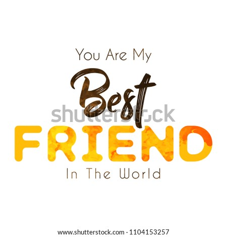 Innovative Banner Poster Friendship Day Abstract Stock Vector