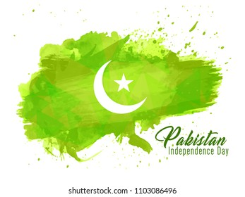 Innovative banner or poster for Pakistan Independence Day, 14th of August, with creative design illustration.
