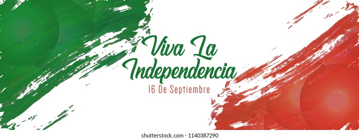 Innovative Banner or poster for Viva La Independencia, Viva Mexico, 16th of September, Independence Day of Mexico with nice and creative design illustration.