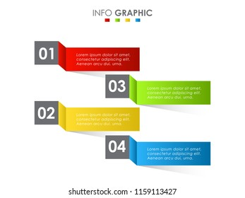 innovative business data info graphic element. Abstract info graphic for timeline , workflow layout, process chart.
