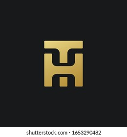 innovative creative letter TH HT logo design