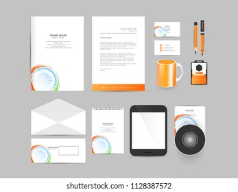 innovative office stationery stationery design templates stock