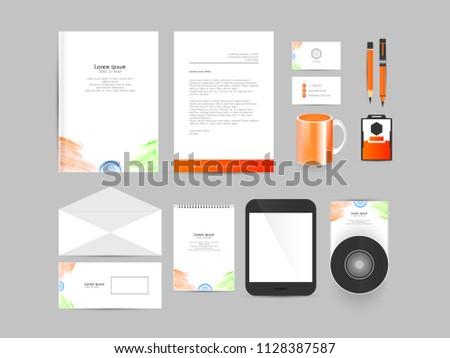 innovative office stationery stationery design templates stock